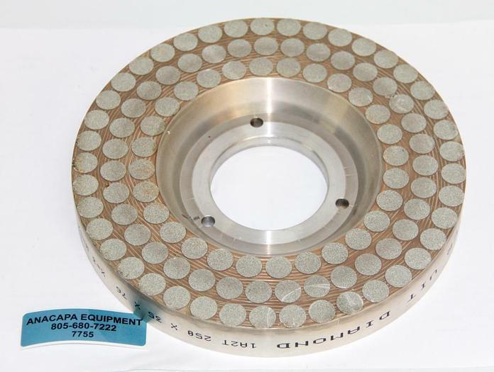 Used Meister Abrasives D32-550-H-13-250-X100-V87-39 Pellet Grinding Wheel (7755)W