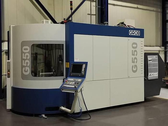 2017 GROB  G550 5 AXIS HORIZONTAL MACHINING CENTER, LIKE NEW