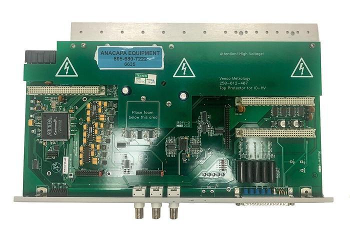 Used Veeco 250-012-407 Top & Bottom Protector for 10-HV, 311-012-479 Rev E PCB 6635