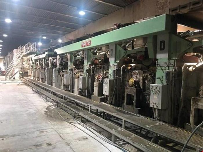 Used (PM0-56) Voith card board machine, cylinder mould