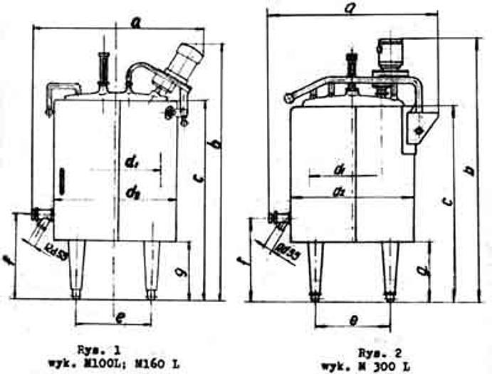 "Used Zbiorniki procesowe - ""M100- M160- M300"""