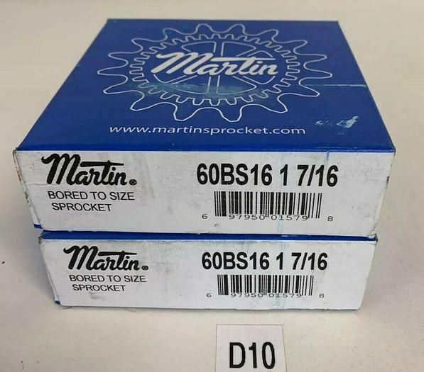 """Martin Sprocket 60BS16 1-7/16""""  NEW In Sealed Box (Lot Of 2) Fast Shipping!"""
