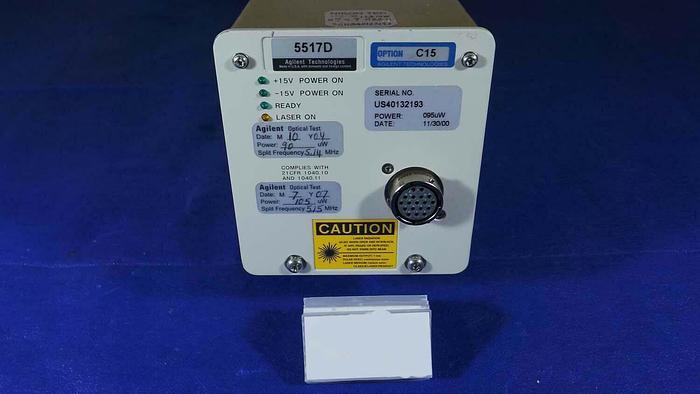 Used Agilent Technologies 5517D Laser Head ASML