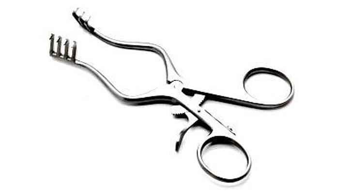 Retractor Self Retaining Weitlander 3 by 4 Teeth Semi Sharp 130mm (5-1/8in) AESCULAP BV067R
