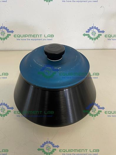 Used Beckman  JA-14 Fixed-Angle Aluminum Rotor, Biosafety Lid- 6 x 250 mL, 14,000 rpm