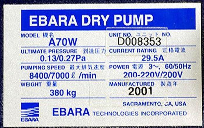 Used Ebara A70W