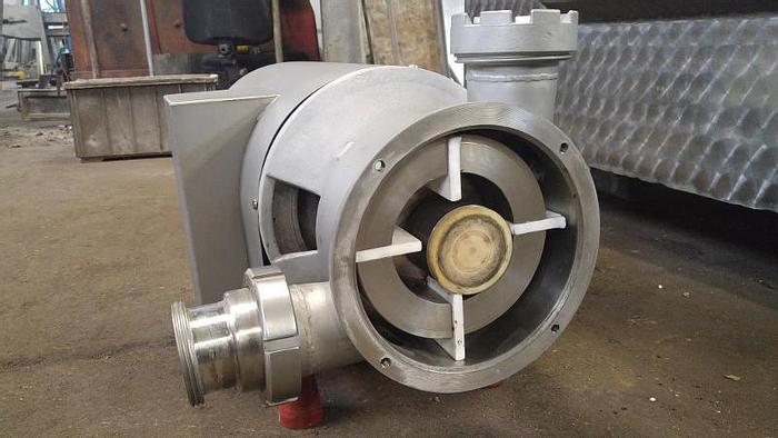 Używane Pompa z rotorem łopatkowym do mas półpłynnych i gęstych, np. farsz parówkowy, gestwa twarogowa, marmolada itp.