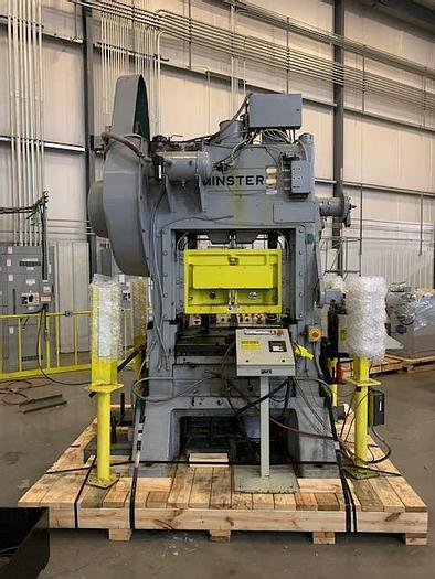Used Minster 60 Ton Straight Side Press P2S-60 With Feed Line #5737