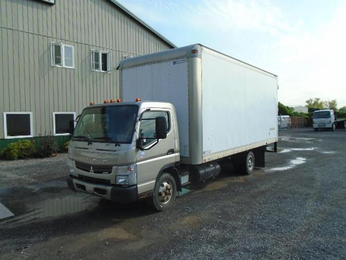 Used 2016 Mitsubishi Fuso FE160 cab and chassis with dry van body