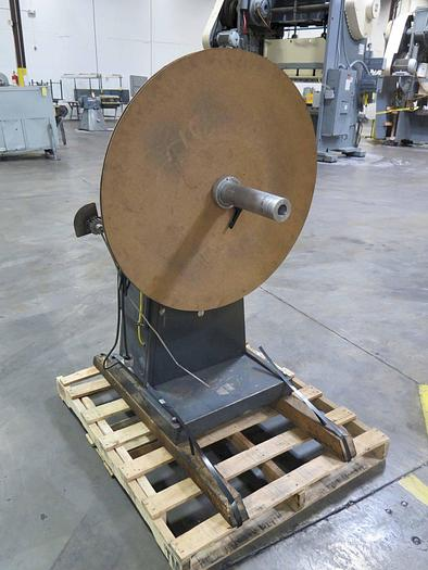 """Used 500LB x 12"""" RAPID AIR MOTORIZED UNCOILER"""