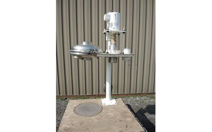 "USED ANDRITZ SCREEN, 17"" DIAMETER, STAINLESS STEEL, PEDESTAL MOUNTED VIBRATORY SCREENER"