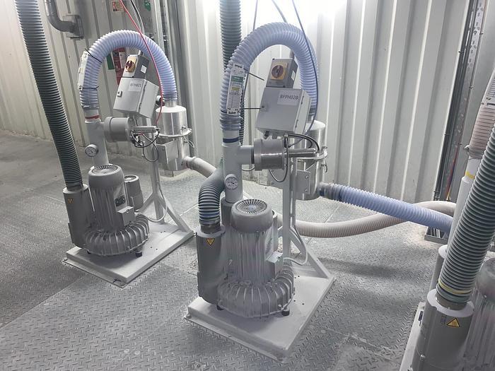 Used 2017 K-TRON 1707902/M-75830 Vacuum Pump Package