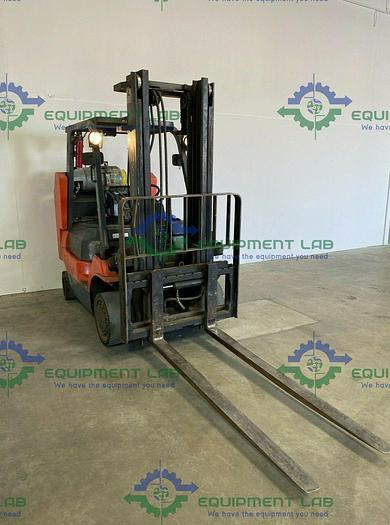 """Used 2012 Toyota  7FGCU35-BCS Forklift 7250 LB Capacity 140"""" Height 2-Stage Mast 5600 Hours"""