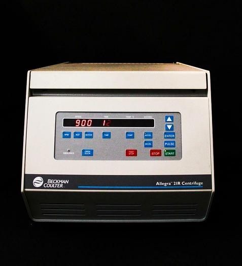 Used Beckman Coulter Allegra 21R Centrifuge 367570 w/ Fixed Angle Rotor F2402H (4751)