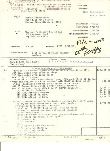American Mdl. 3220 CNC Lathe