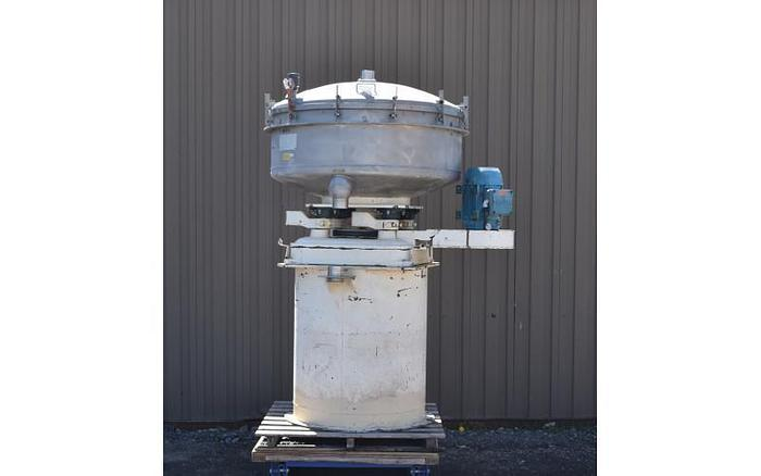 "USED GUMP SCREEN, 48"" DIAMETER, ''PRESSURE SIFTER'', STAINLESS STEEL, TRIPLE DECK"