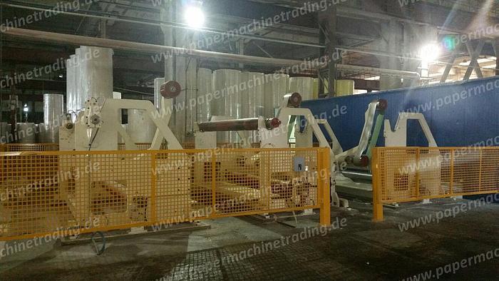 (PMT-34) - Tissue Paper machine - 1 Wire Fourdrinier -/including stock preparation and Slitter Rewinder