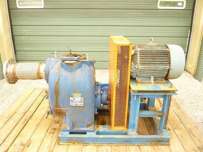 """USED CENTRIFUGAL PUMP, 6"""" X 6"""" INLET & OUTLET, CARBON STEEL, SELF-PRIMING"""