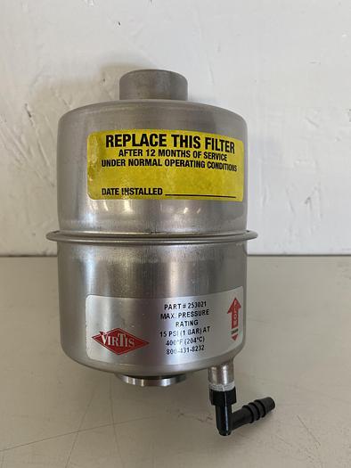 Used Virtis  Vacuum Pump Exhaust Filter 15PSI @ 400°F KF25 Vacuum Fitting Size