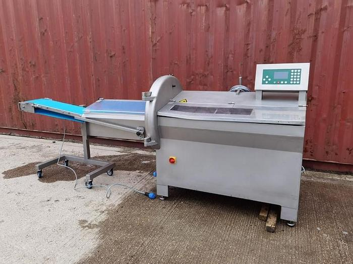 Used MHS SLICER WITH OUTFEED CONVEYOR