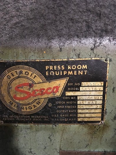 1971 VERSON 600 TON SE2-600-96-54