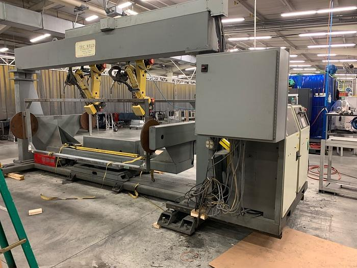 TEC WELD FANUC ROBOTIC DUAL TRUNION WELDING CELL WITH 2 FANUC ARCM