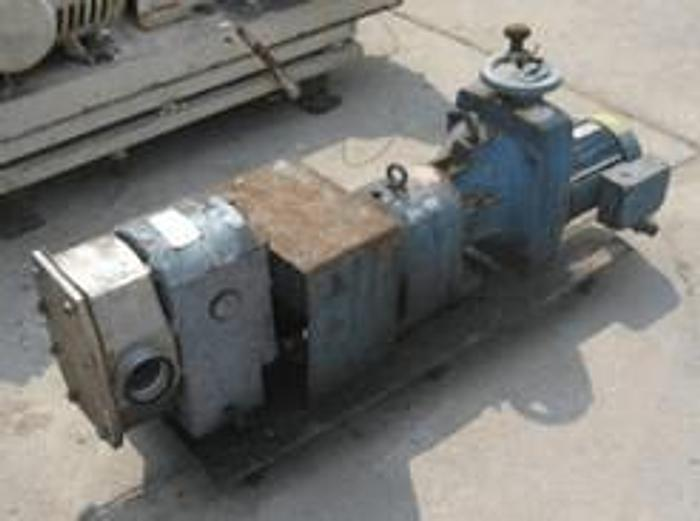 Used 3 CREMERY PACKAGE SANITARY GEAR PUMP – S/S – 5 HP