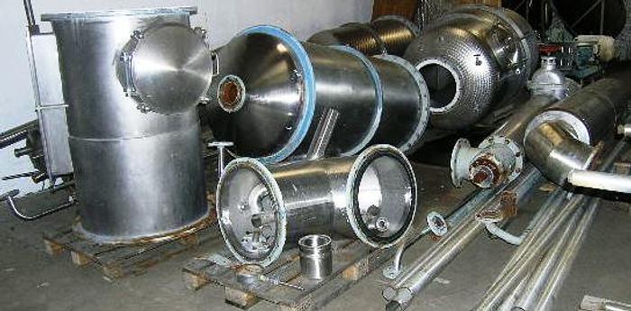 Used Complete Van den Ploegh 1 step falling film evaporator.