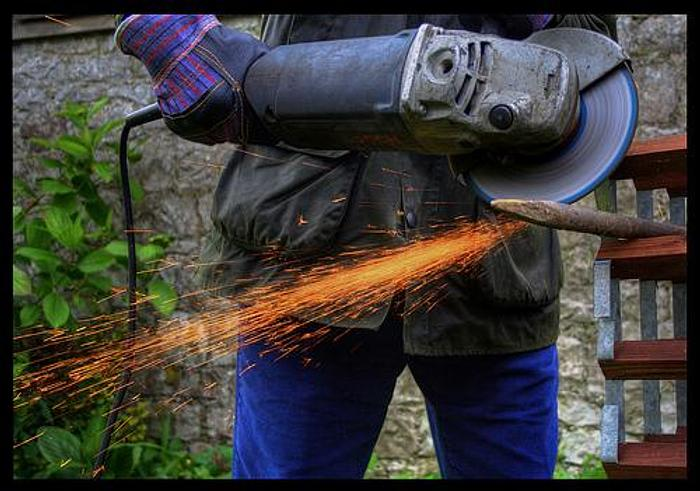 Used 9 inch angle grinder