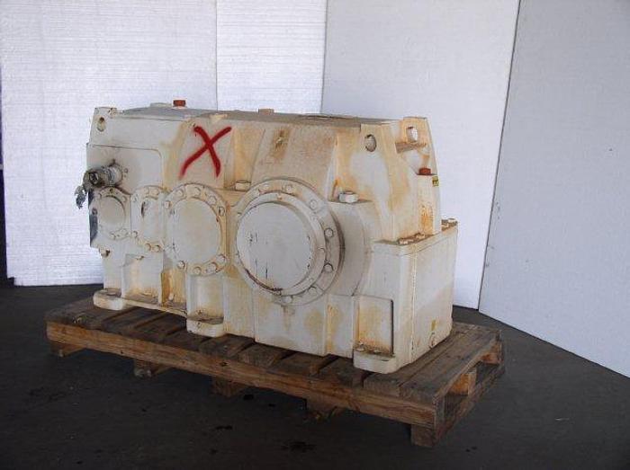 Used 48 HP @ 1,750 RPM 581.7:1 BROOKS HANSEN Model QHPJ4RLK560 Parallel Power Transmission Gear Reducer; S/N 99-R05A2685