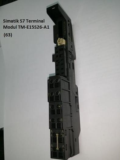 Gebraucht 10 Stück Simatic S7 Terminal Modul, TM-E15S26-A1, Siemens