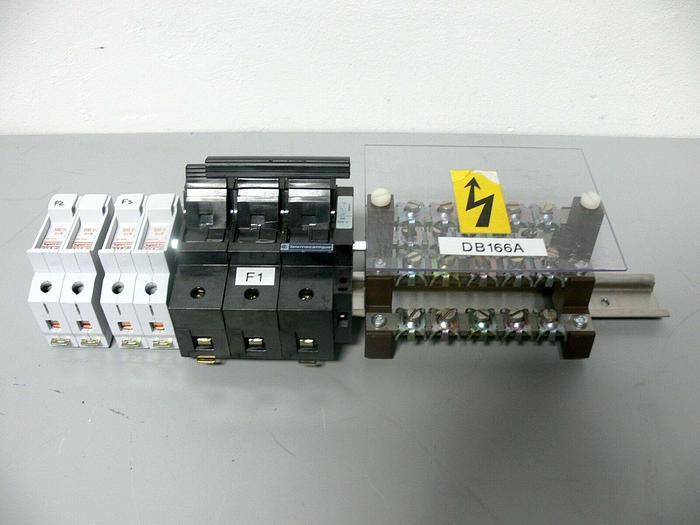 Used 4 Single Pole Legrand 01127 32A Fuse holders + 1 & 2 Pole Telemecanique
