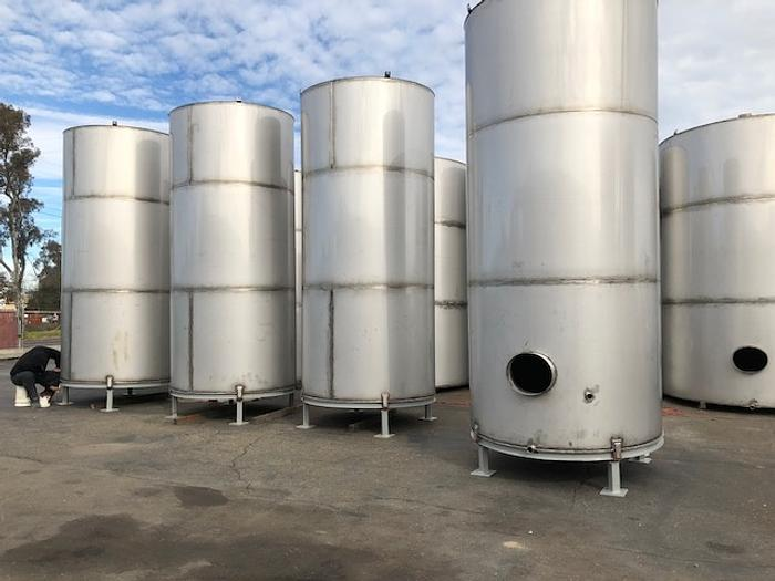 New Stainless 3175 Gallon Steel Vertical Tank