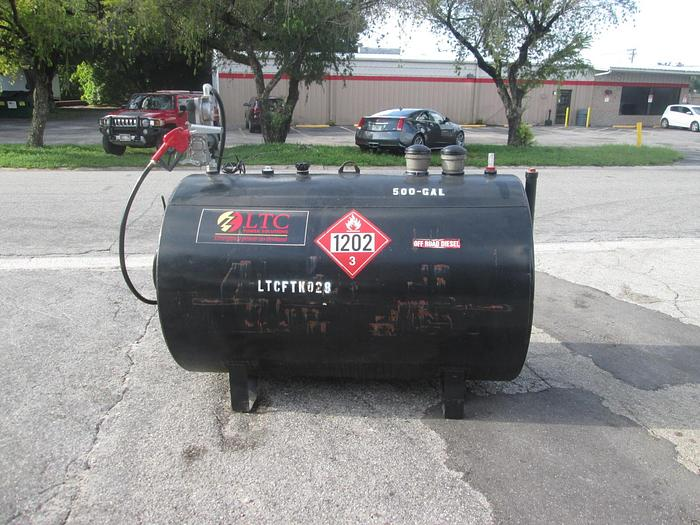 Used 500 Gallon Double Wall Diesel Fuel Tank With Pump
