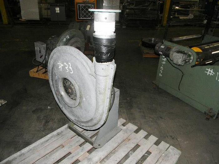 Used 3hp Hauck blower, 3465 rpm, 208-230/460 v 3 phase, FLA 8.1-7.3/3.7 amp, stock #4699-014