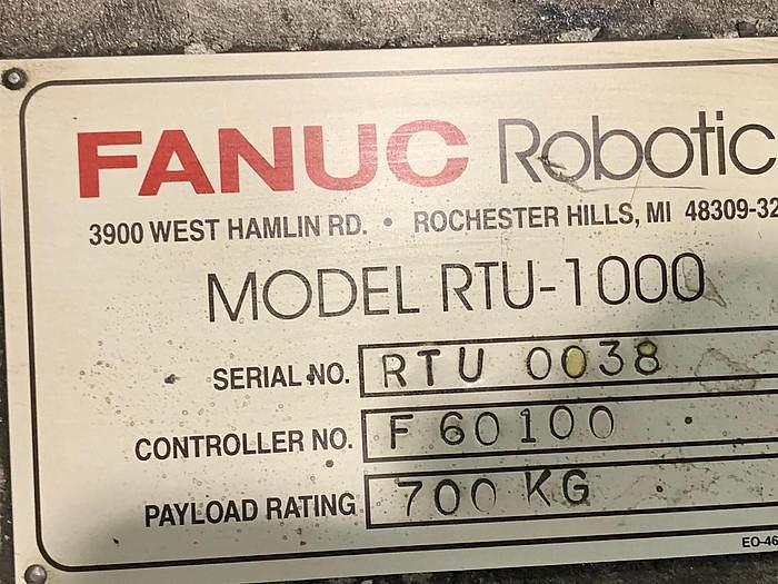 2002 FANUC MODEL RTU-1000 7TH AXIS ROBOT FLOOR MOUNTED TRACK