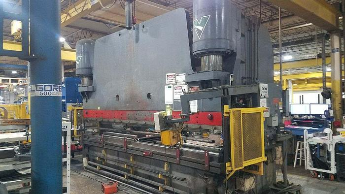 """Used Pacific Hydraulic 600 Ton CNC Press Brake, with CNC back Gauge,  Capacity 1/2"""" X 192"""", 192"""" Bed Length"""