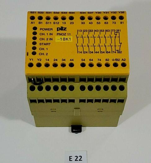 Used *PREOWNED* Pilz PNOZ 11 230-240VAC 24VDC 7N/O 1N/C Safety Relay + Warranty!