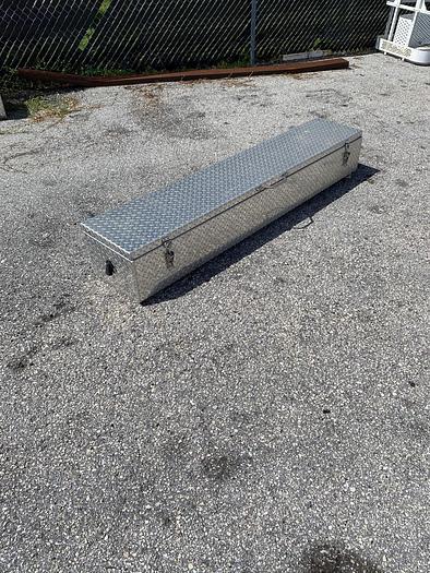 Used Tool Box 78x15x11 Aluminum Top Open - Box2
