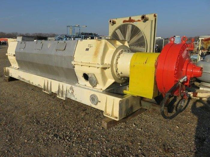 Used THUNE SP70L DEWATERING SCREW PRESS  S/S HAGGLUNDS DRIVE
