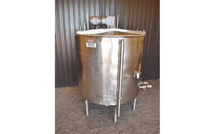 USED 1000 GALLON JACKETED TANK, STAINLESS STEEL, WITH MIXER