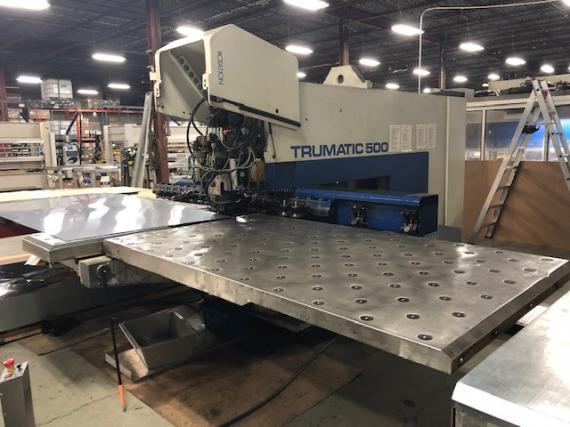 25 TON, TRUMPF TC-500 / 1300, 1995, CNC TURRET PUNCH