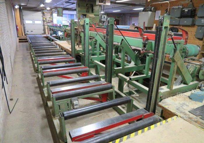Used Complete splitting line with Bandsaw Canali 1100