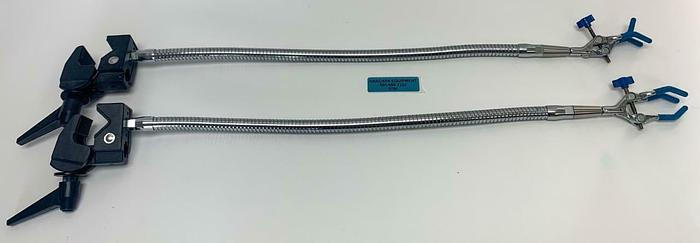 "Used VWR Laboratory Bench Clamp W/ Three Pronged Talon 24"" Flex Arm Lot of 2 (8780)W"