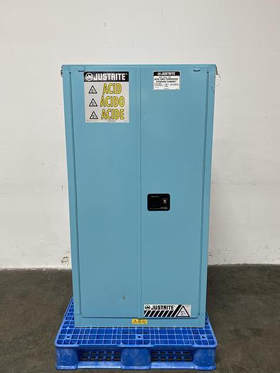 "Used JustRite 896022 60 Gallon Acid Cabinet 65""x 34""x 34"" Manual Close"