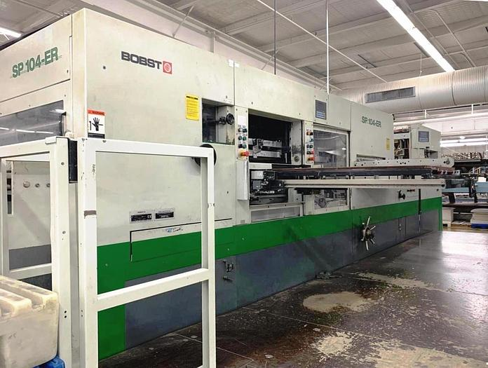 Used 2000 BOBST SP 104 ER AUTOMATIC DIECUTTER BLANKER