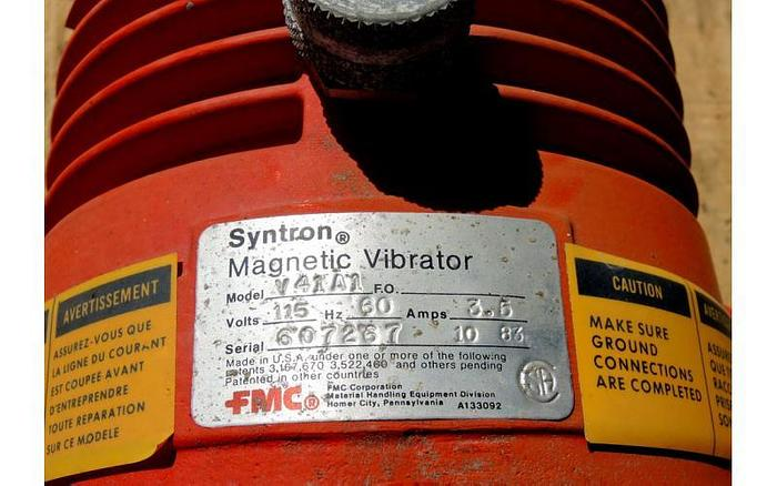 USED SYNTRON ELECTROMAGNETIC VIBRATOR, MODEL: V 41