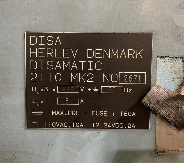 1994 DISA 2110 MK2 MOLDING LINE (Hold)
