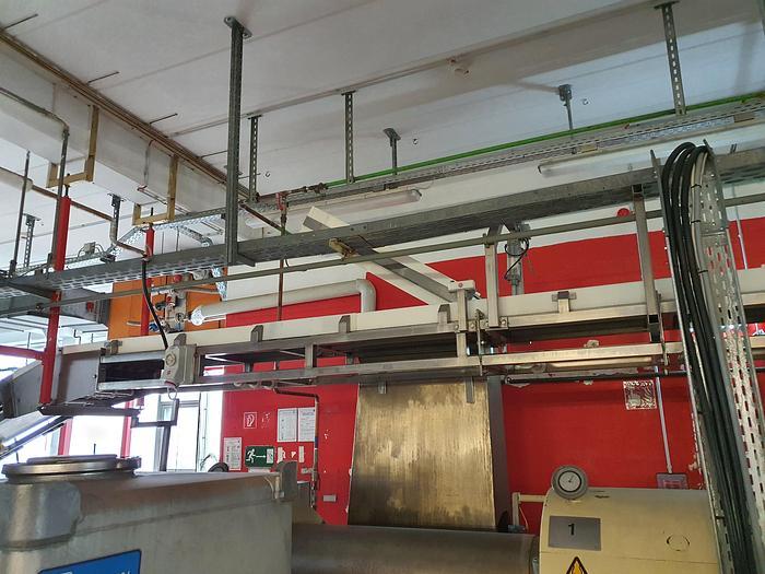 Gebraucht gebr. Stahlbandanlage in Edelstahl BERNDORF Länge: ca. 14 m, Arbeitsbreite: ca. 350mm