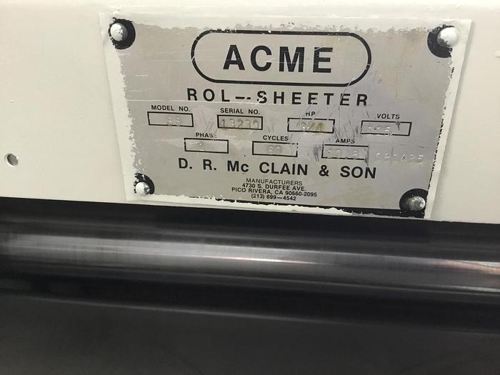 Acme Dough Sheeter - ON SALE THRU AUGUST15, 2020 $600 OFF